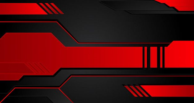 Black And Red Metal Background Vector Metallic Banner Abstract Technology Background Metal Background Technology Wallpaper Vector Technology