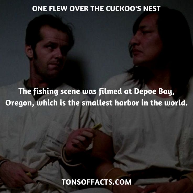 The fishing scene was filmed at Depoe Bay, Oregon, which is the smallest harbor in the world. #oneflewoverthecuckoosnest #movies #interesting #facts #fact #trivia #awesome #amazing #1 #memes #moviefacts #movietrivia #oneflewoverthecuckoosnestfacts #oneflewoverthecuckoosnesttrivia