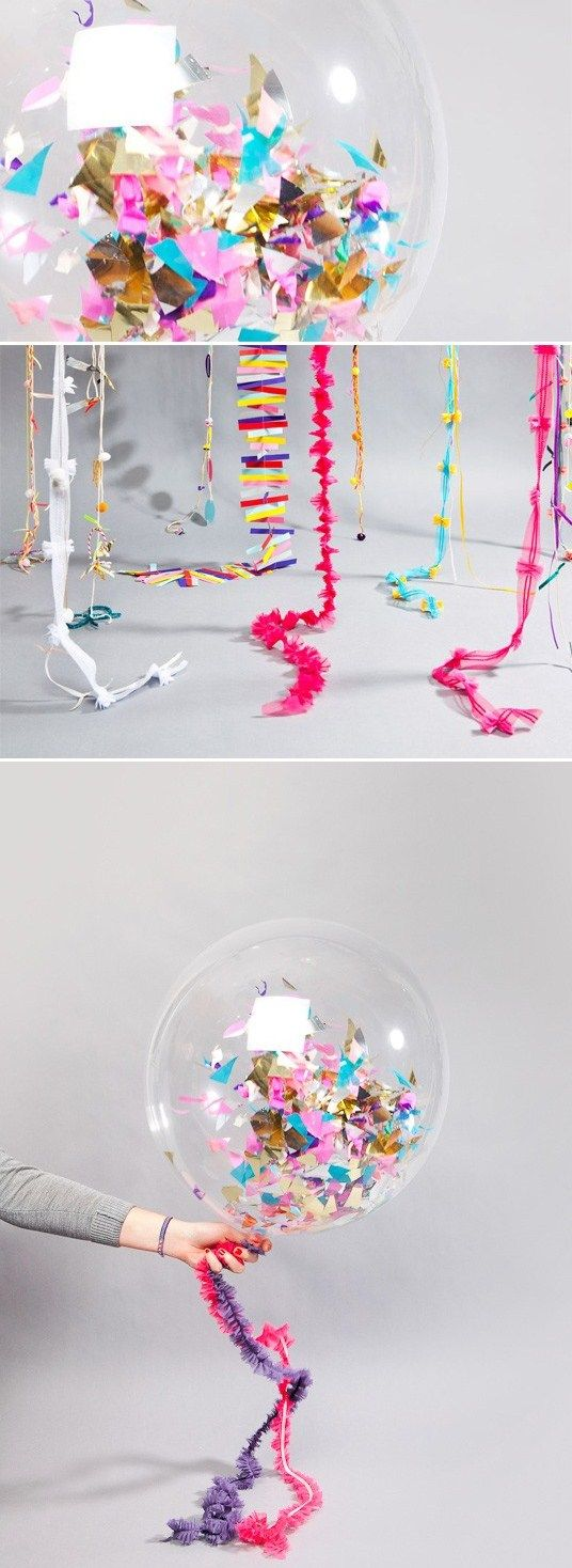 Fill balloons with confetti and pop them at midnight for New Years.