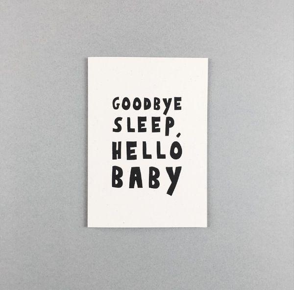 Image of Good bye sleep card