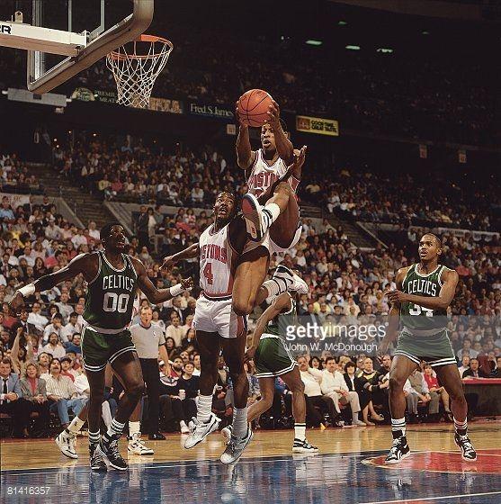 Fotografia de notícias : playoffs, Detroit Pistons Dennis Rodman in...