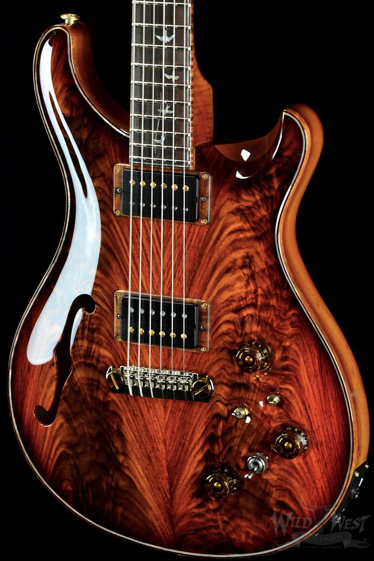 PRS Signature Semi-hollow Limited Fire Red