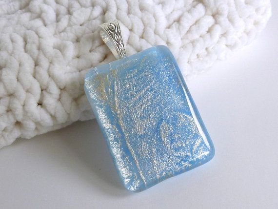 Pale Blue and Silver Glass Pendant by bprdesigns on Etsy: Bprdesigns, Glasses Pendants, Silver Glasses, Gifts, Designs Glasses, Etsy Finding, Aa Glasses, Pale Blue, Design Glasses