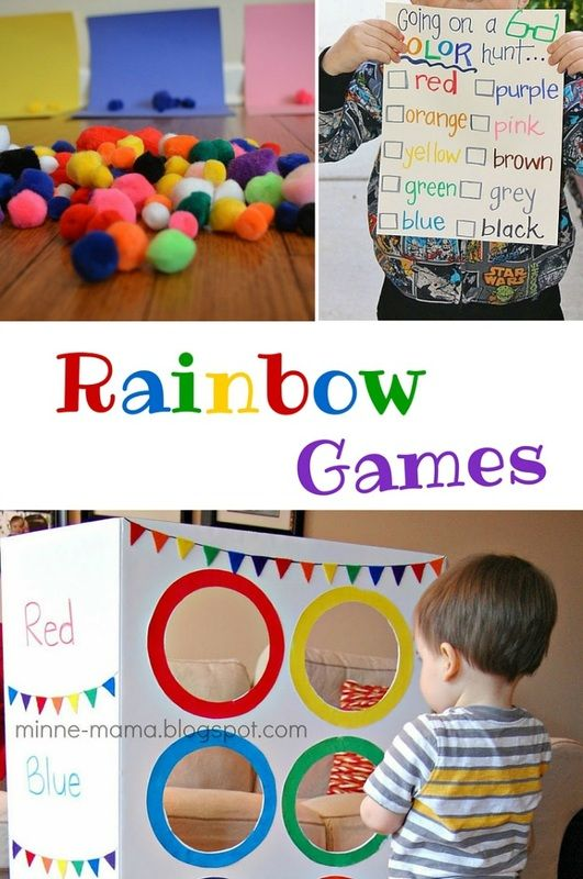 Rainbow games so much fun kids won't even know they're learning colors, too!