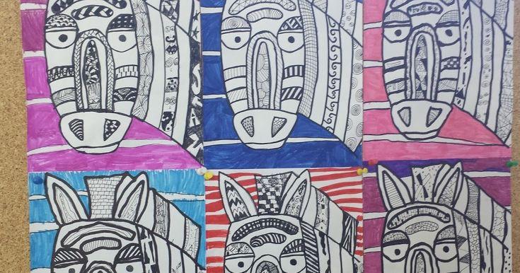 Ebenfalls In Der Afrika Projektwoche Sind Diese Bunten Zebras Entstanden Auf Einer Kopiervorlage Mit Den U Kunst Grundschule Afrika Sachunterricht Grundschule