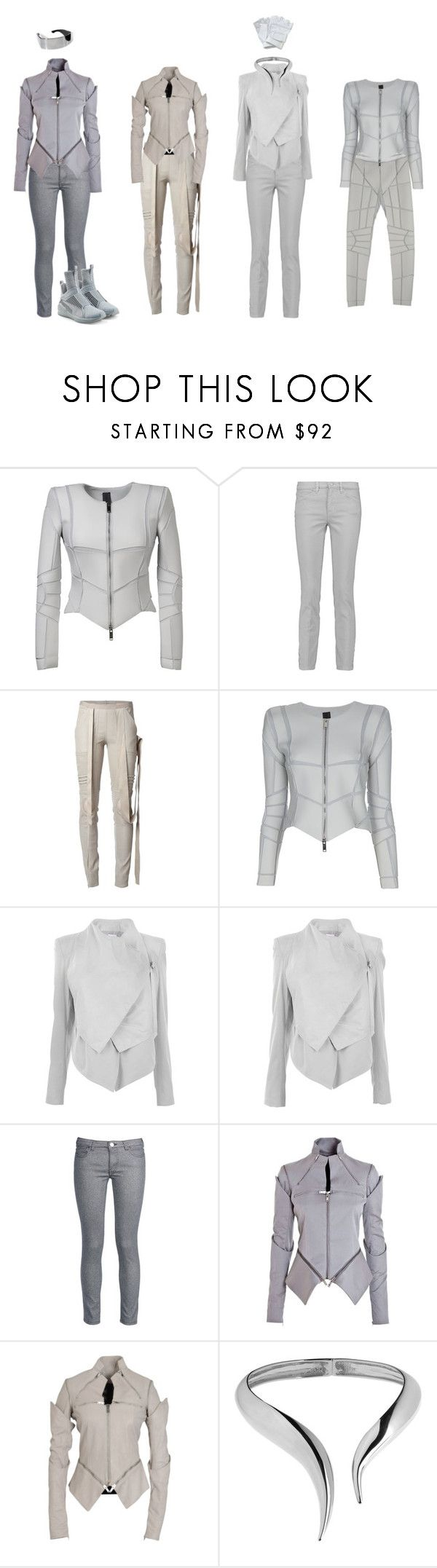 """Uniform"" by gone-girl ❤ liked on Polyvore featuring Gareth Pugh, Tory Burch, Rick Owens, Helmut Lang, George J. Love, Giuseppe Zanotti and Puma"