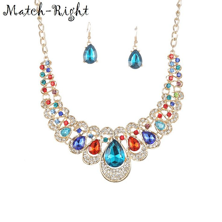 Match-Right Women Necklace Statement Necklaces & Pendants Multicolor Crystal Necklace For Women Jewelry Nl603 - free shipping worldwide