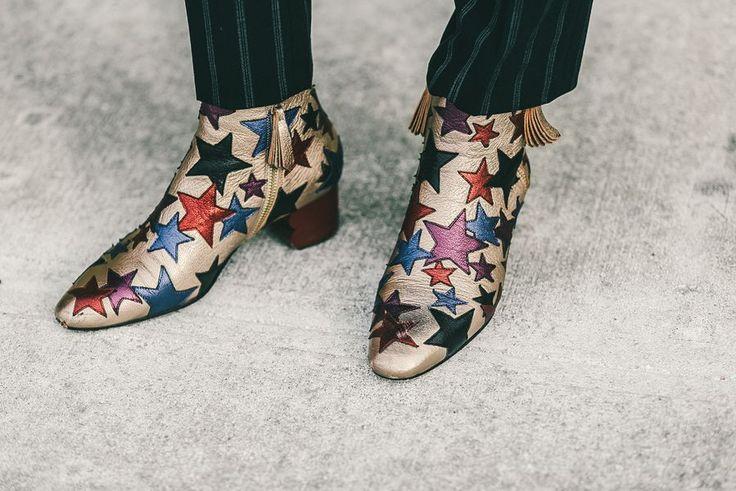 Star Print Tommy Hilfiger booties //  #fashion