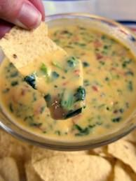Jalapeno Bacon Spinach Queso Dip or Sauce