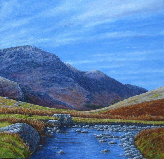 Original Oil Painting Honister Valley Keswick Lake District Etsy Lake Landscape Lake District Original Oil Painting