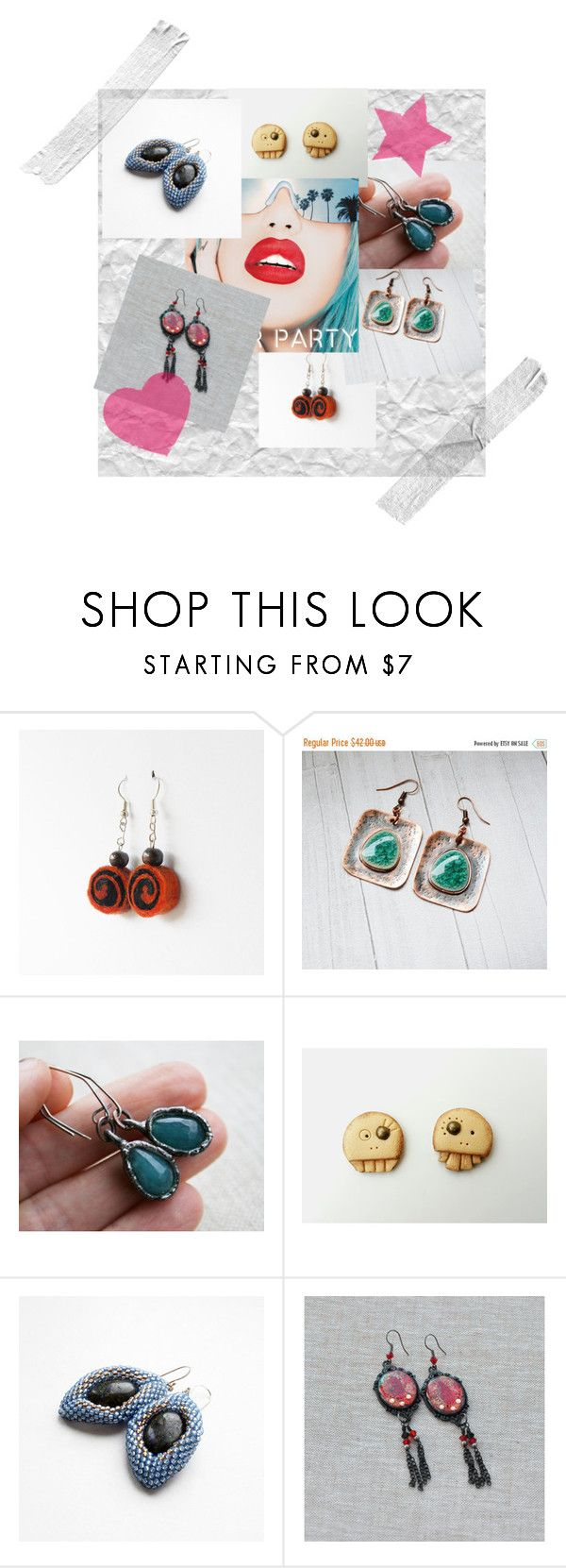 """""""Beautiful Earrings"""" by agnkam ❤ liked on Polyvore featuring Humör and Rupaul"""