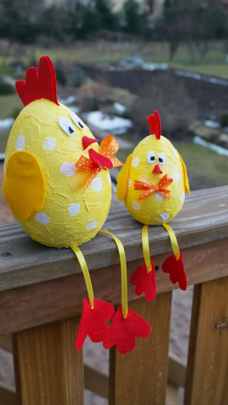 KREATYWNE DEKORACJE -Creative Decoration: Wielkanocne kurki-dekoracja na wielkanoc