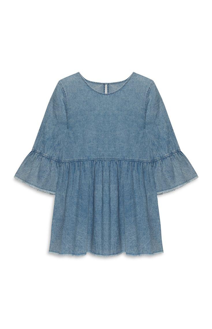 Primark - Denim jurk met smokwerk €15
