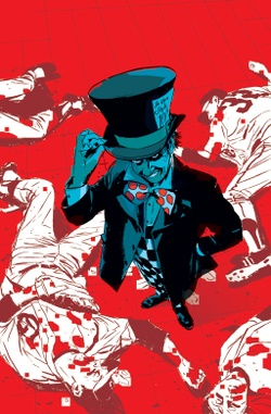 The Mad Hatter.  Art by Michael Lark.