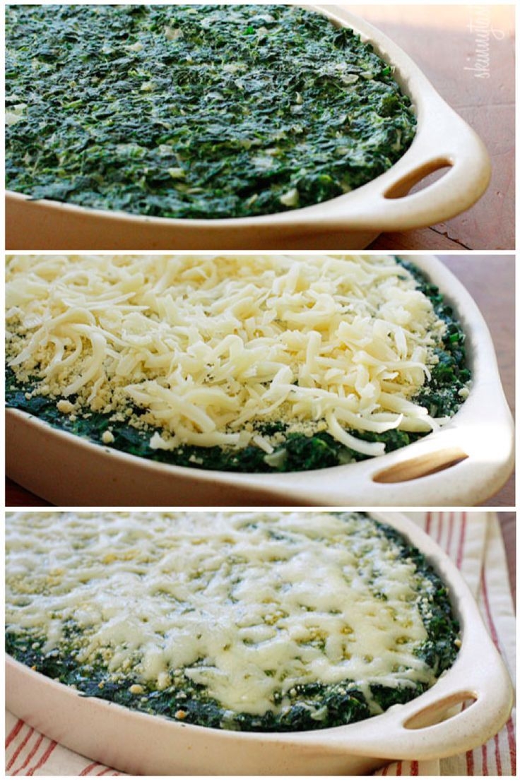 Makeover Spinach Gratin Recipe: Lighten Spinach, Spinach Side Dishes ...