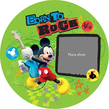 makit is born to rock with mickey mouse disney our rock 39 n 39 roll inspired photo plate is. Black Bedroom Furniture Sets. Home Design Ideas