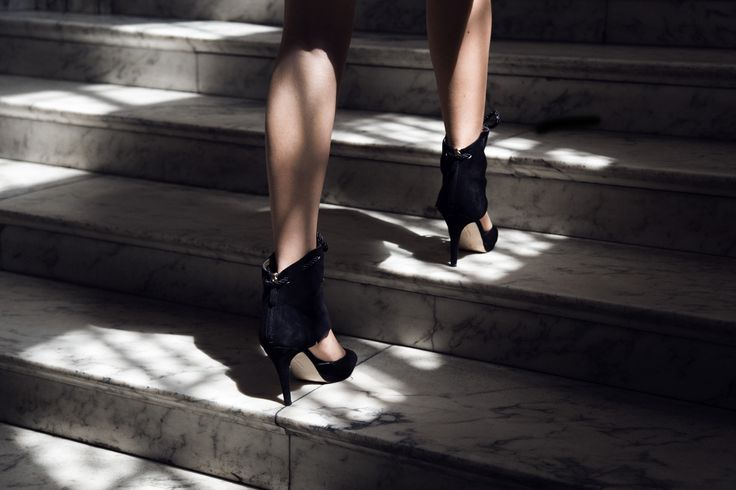 The ladder of success is the right shoes.