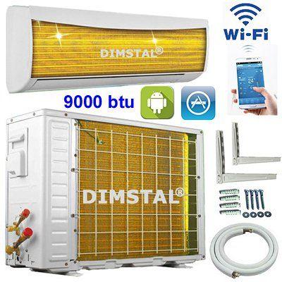 A++/A+ Golden-Fin WiFi 9000 btu 2,6kW Split Klimaanlage INVERTER Klimager�t und Heizung App Steuerung