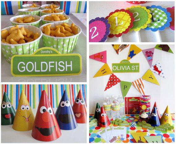 This pack comes with PDFs and you can then print food labels, cupcake toppers, banners, etc. It sounds neat, I just don't know if I can do it. Sesame Street Party Pack, Customized
