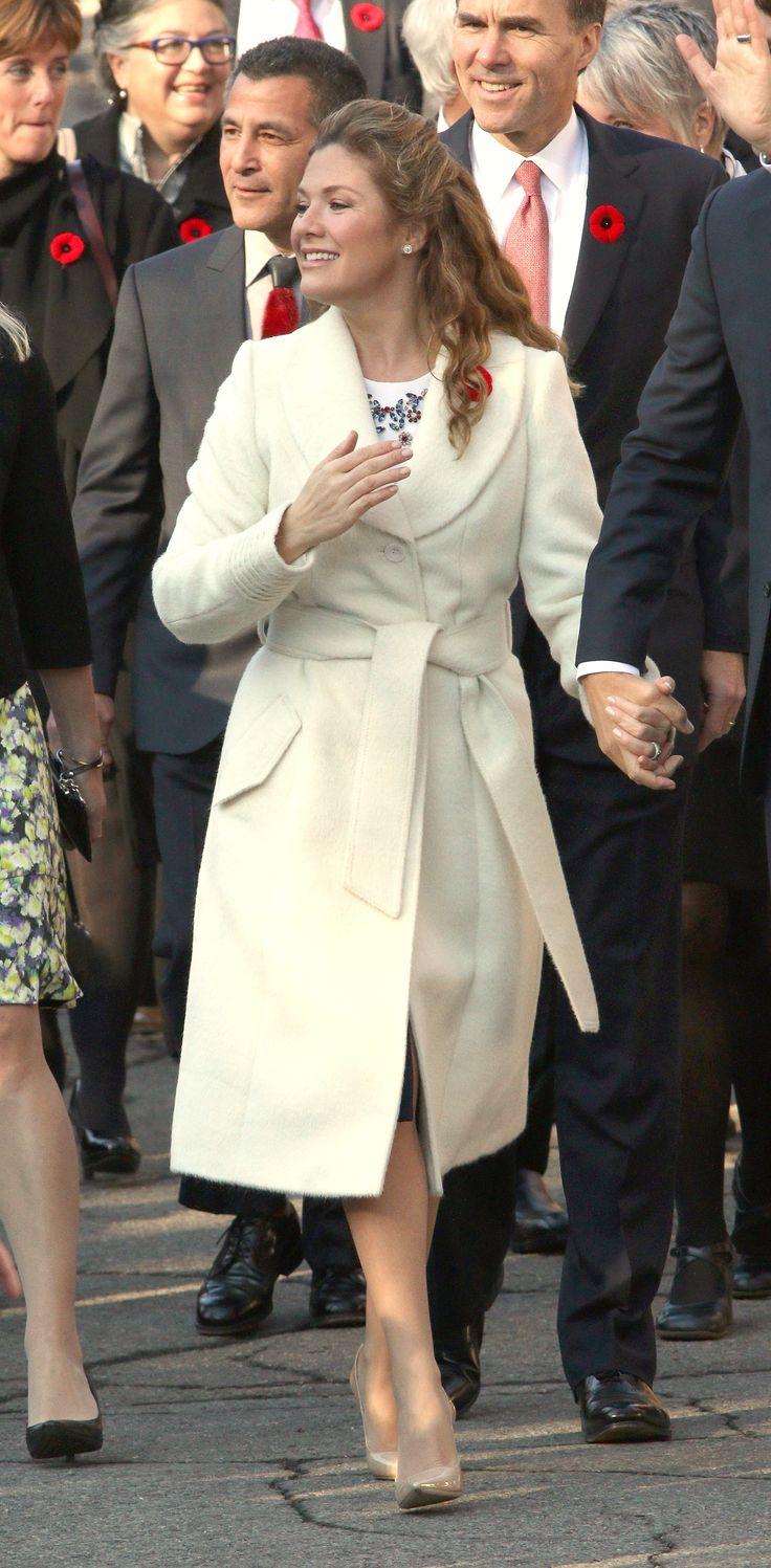Sophie Grégoire-Trudeau wearing a Sentaler coat. #Canada
