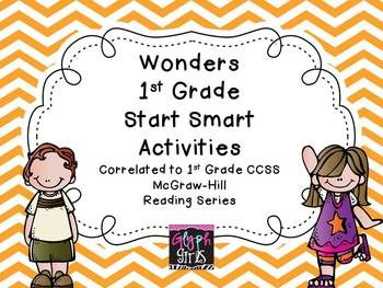 The Glyph Girls have created supplemental activity sheets for your literacy stations that correlate with the Wonders McGraw-Hill Reading Program. Each sheet has the Common Core Standard listed and teacher instructions are included. This packet has at least 2 additional activities to supplement each day of Weeks 1, 2, and 3 of Start Smart.