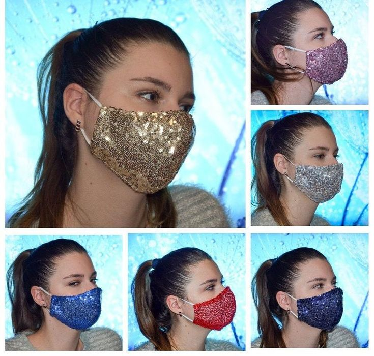 Sparkly face masks, Cotton Inner layer face protection