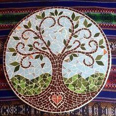 Resultado de imagen para macetas decoradas en mosaiquismo