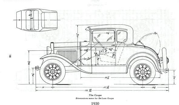 Blueprints on 1930 ford model a truck cab