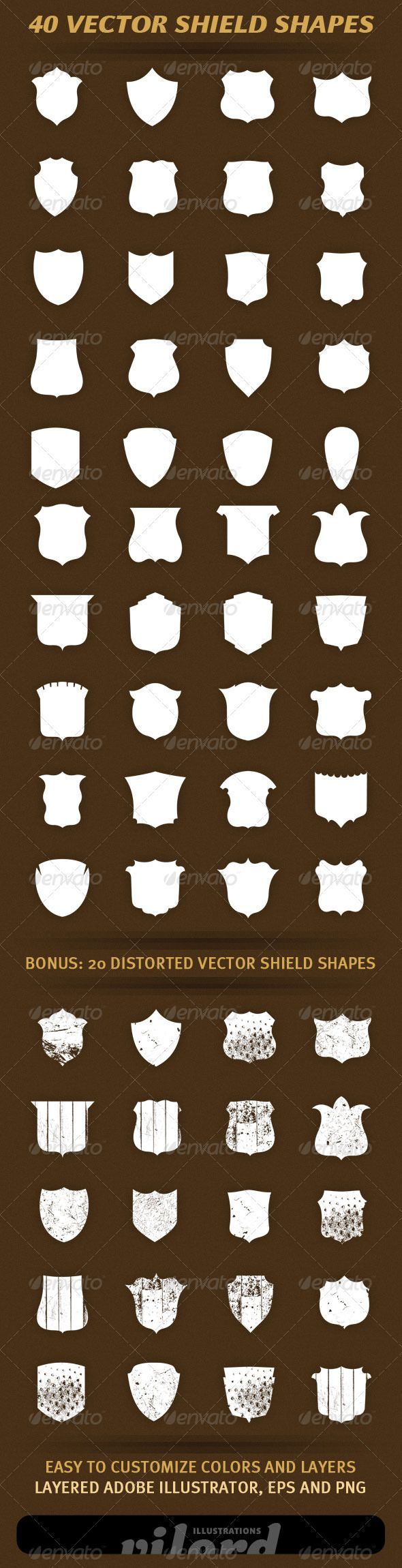 40 Vector Shield Shapes - http://graphicriver.net/item/40-vector-shield-shapes/1732596?ref=cruzine:
