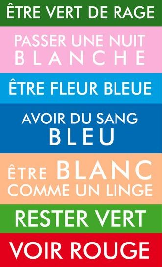 Expressions idiomatiques avec les couleurs