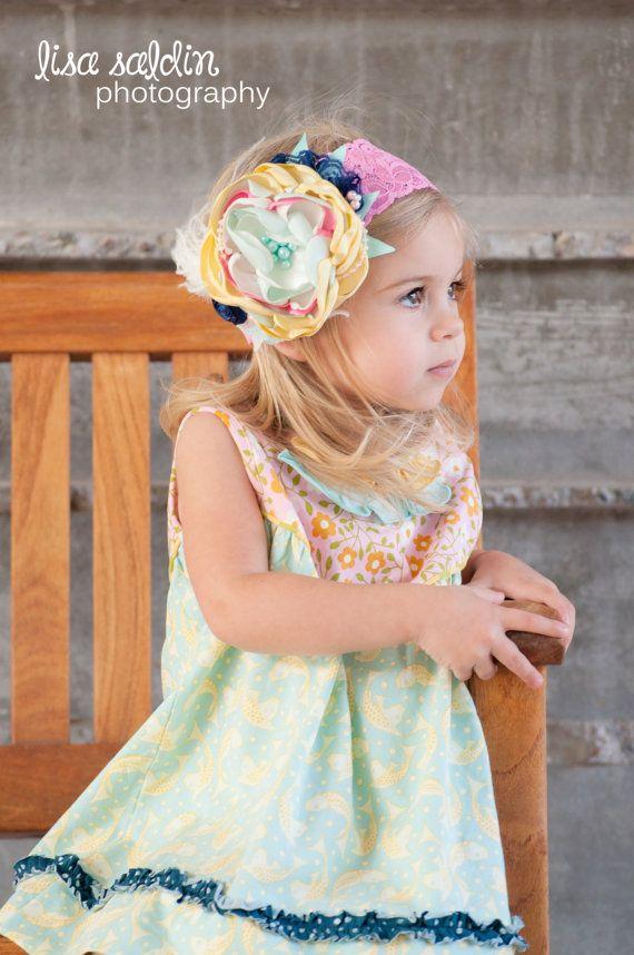Matilda Jane Good Hart Headband-Matilda Jane-Couture Headband-Baby Headband-Baby Girl-Boutique Headbands-Good Hart-Coutre Baby on Etsy, $26.95