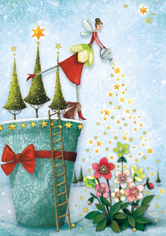 X-MAS SALE! Christmas card (folded) by Mila Marquis *Minimum order value 10 Euro*