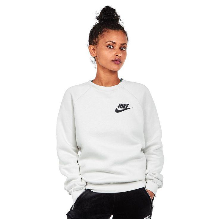Nike - WMNS Sportswear Rally Crewneck Sweater (Light Bone / Light Bone / Black) günstig online kaufen bei hhv.de - Pullover Damen von Top-Marken verfügbar in unserem Online-Shop - Versandkostenfrei bestellen ab 80€!