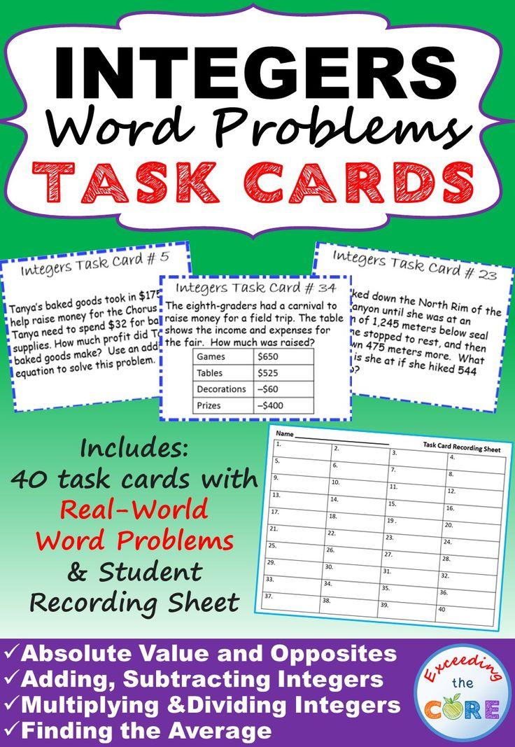 integer word problems grade 7 pdf 7th grade math word problems and worksheetshomework notes. Black Bedroom Furniture Sets. Home Design Ideas