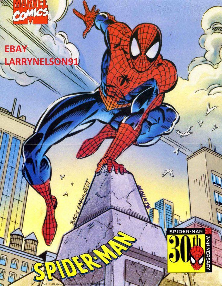 AMAZING SPIDER-MAN POSTER MARVEL 30TH ANNIVERSARY PETER PARKER SUPERIOR NEW YORK