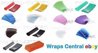 """""""You Pick Color + Qty"""" 18650 PVC Lithium Battery Heat Shrink Wraps + Insulators"""