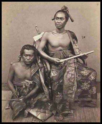 Bali--Anak Agung Ketut Djelantik and his assistant in 1865.