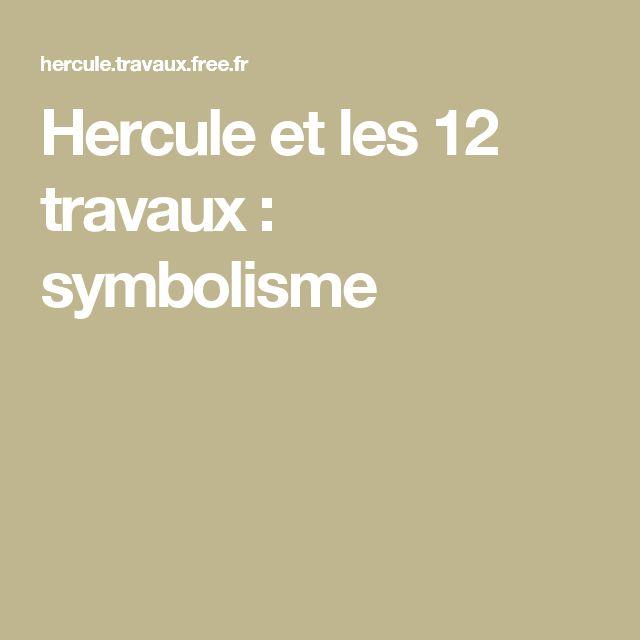 Hercule et les 12 travaux : symbolisme