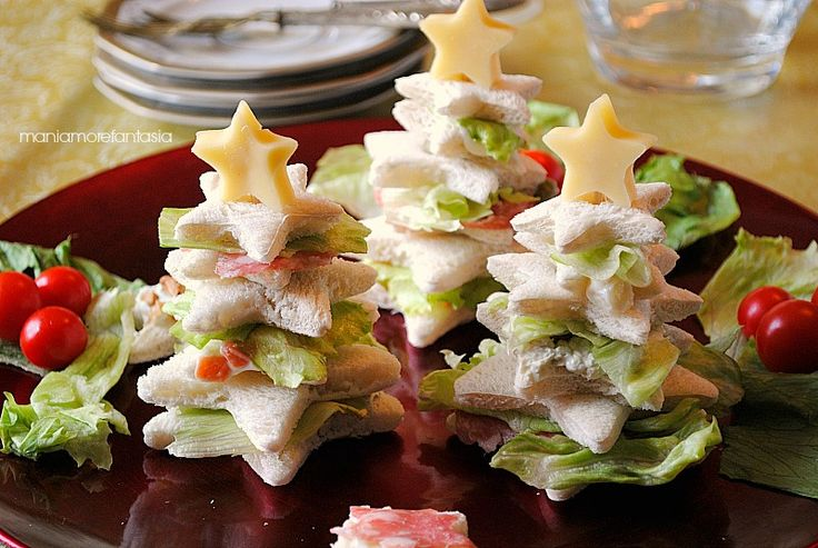 saplings stuffed sandwich bread recipe Christmas appetizers