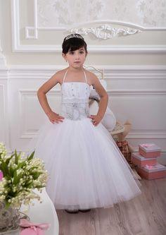 Платье-пачка в пол из фатина для девочки