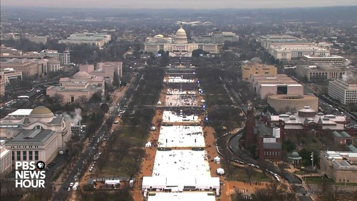 Watch a timelapse of the National Mall on Inauguration Day . This proves, that no matter from what angle, Trump had less than half the crowd which could have attended. Another view: Here's a side-by-side of crowds during President Barack Obama's inauguration in 2009 and Donald Trump's inauguration in 2017, taken at 11:49:43, minutes before Donald Trump took the oath of office.