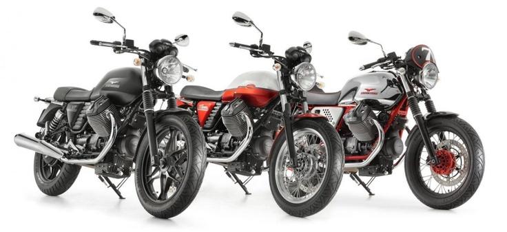 2013 Moto Guzzi V7 Stone, Special and Racer