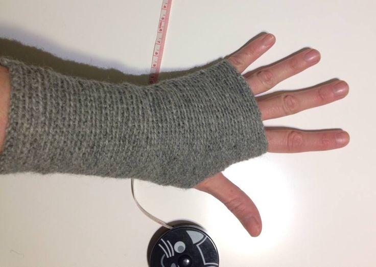 Disse hæklede håndledsvarmere er rigtig fine, og kan laves i alle størrelser.