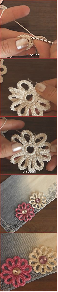 Step By Step Video Tutorial How To Crochet Those Beautiful Home Decor Flowers . CrochetedWorld.com