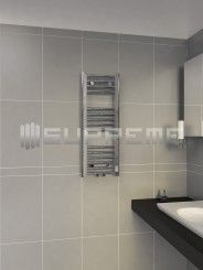 300/800mm Middle Connection Chrome Towel Radiator