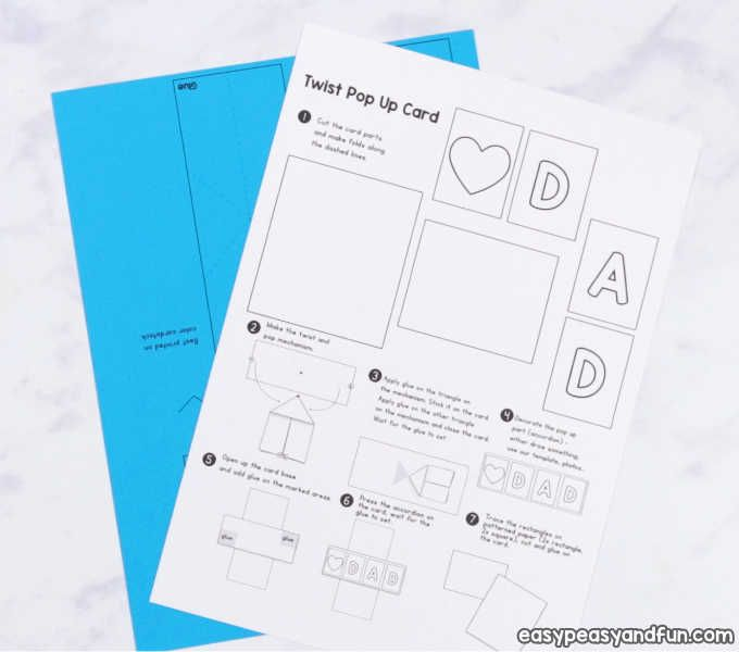 Twist And Pop Fathers Day Card Father S Day Card Template Diy Pop Up Cards Fathers Day Cards