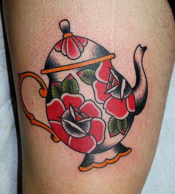 teapot tattoo myke chambers by Myke Chambers Tattoos, via Flickr