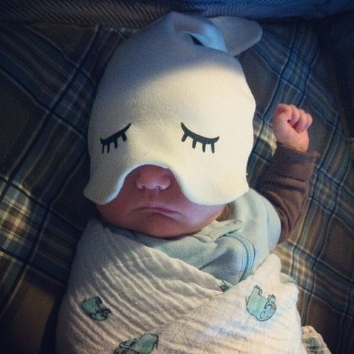 Best (most hilarious) baby sleep hat ever. Made by zoe b. organics. All babies need one because, obviously.