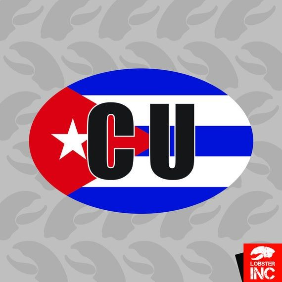 Oval Sticker Self Adhesive Vinyl Cuban