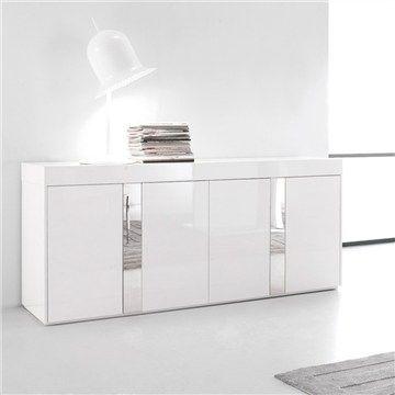 Cascade High Gloss White Buffet - 180cm